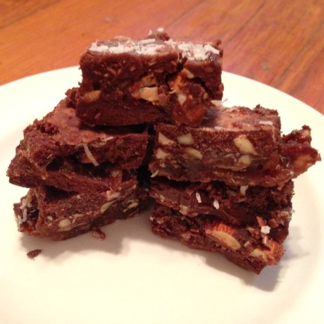 healthy chocolate square