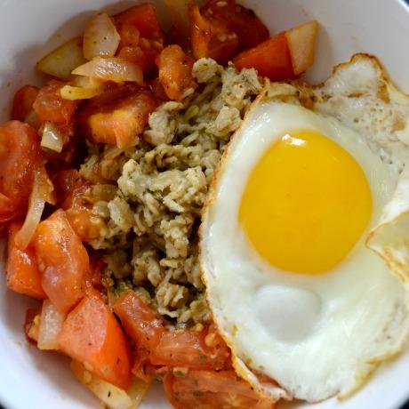 savory oatmeal square
