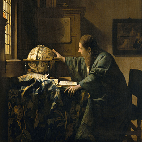 A Lady Writing 	Johannes Vermeer (Dutch, 1632–1675) 	about 1665 	Oil on canvas 	*National Gallery of Art, Washington, Gift of Harry Waldron Havemeyer and Horace Havemeyer, Jr., in memory of their  	father, Horace Havemeyer, 1962.10.1 	*Courtesy, Museum of Fine Arts, Boston
