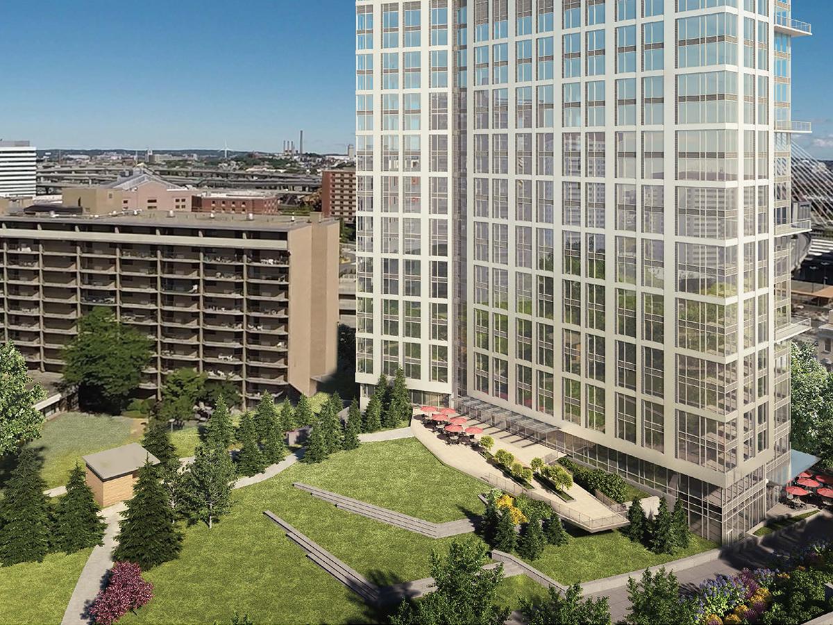 Garden Garage Tower Loses Height Gains Park Space