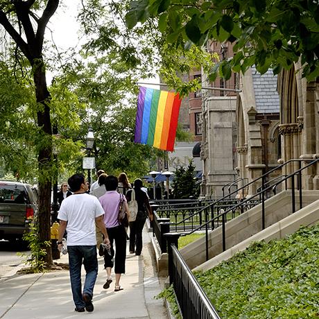 Gay pride flag sq