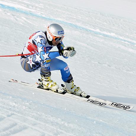 Descente de coupe du monde de ski alpin homme. Chamonix Mont Blanc - La verte des Houches. Descente du Kandahar 8ème