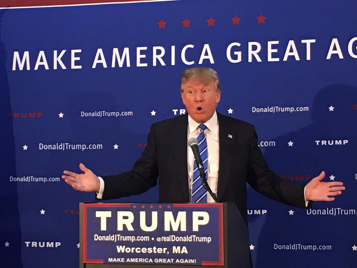 Donald Trump in Worcester by Garrett Quinn