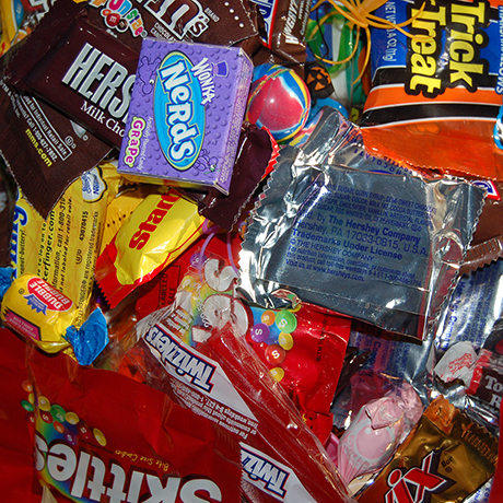 Halloween candy donation