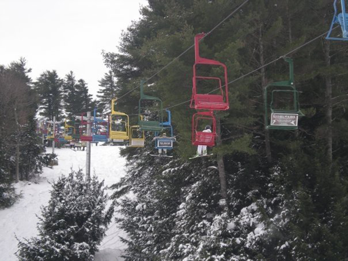Chair lifts at Lost Valley