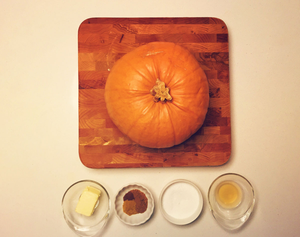 Boiled pumpkin recipe ingredients