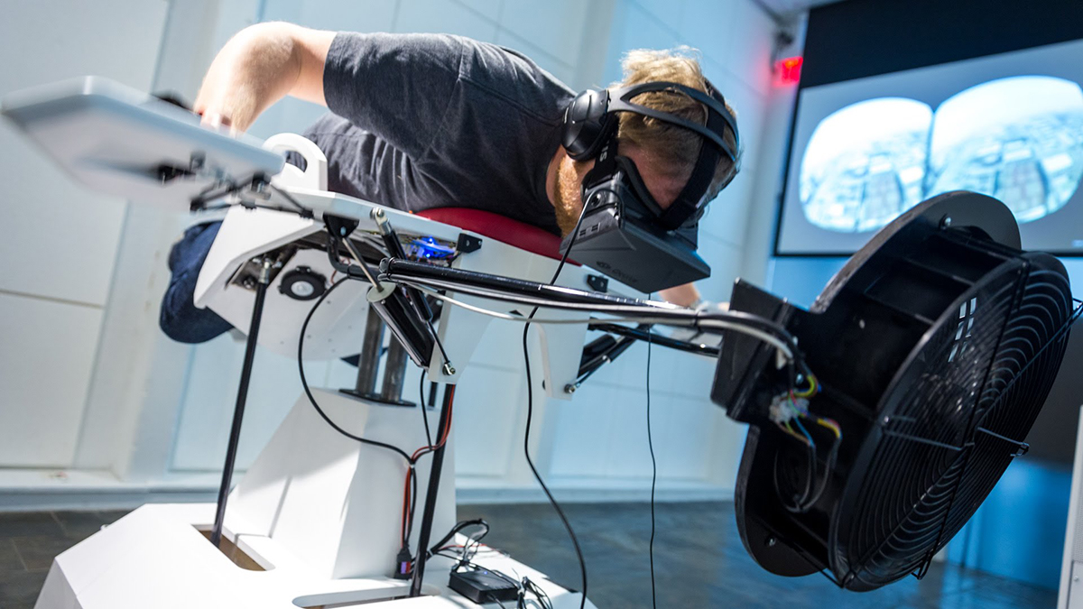 birdly virtual flight simulator cambridge