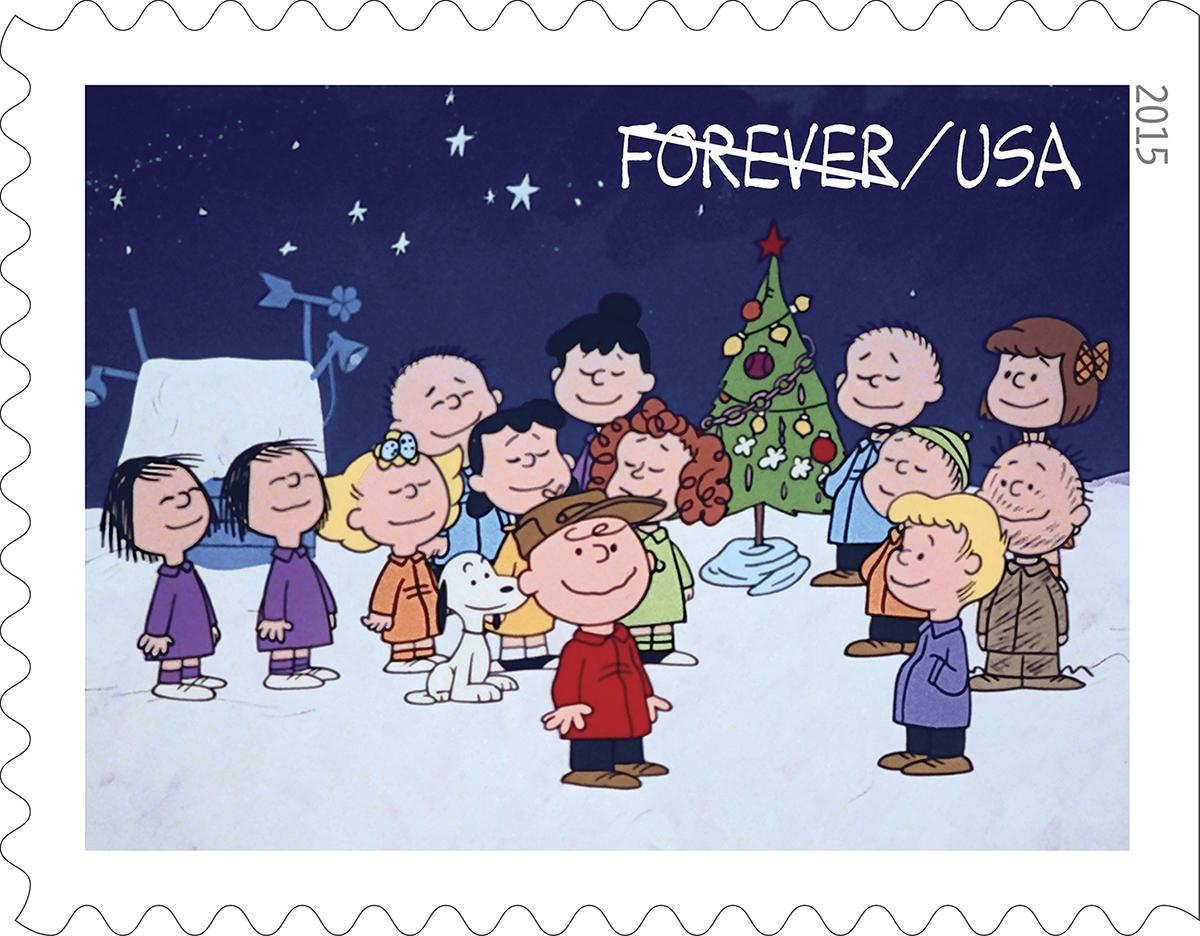 charlie brown christmas stamps