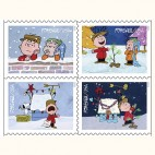 The Postal Service unveiled the new Charlie Brown Christmas Stamp Series at 3 Rockland Elementary Schools Friday, Nov. 13, 2015. Photo courtesy of the United States Postal Service