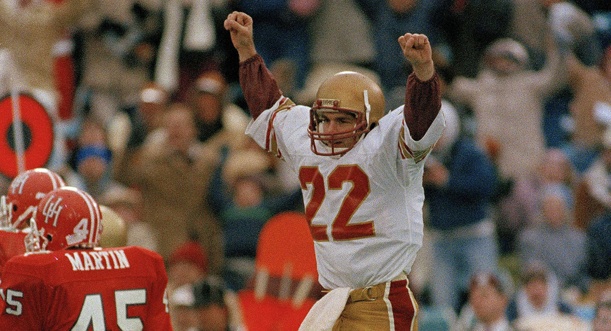 buy popular 082bb 682df Catching Up with Boston College Football Legend Doug Flutie