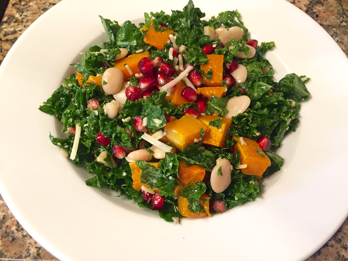 Lauren Mayer's kale salad. Photo provided
