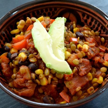 lentil bean chili square