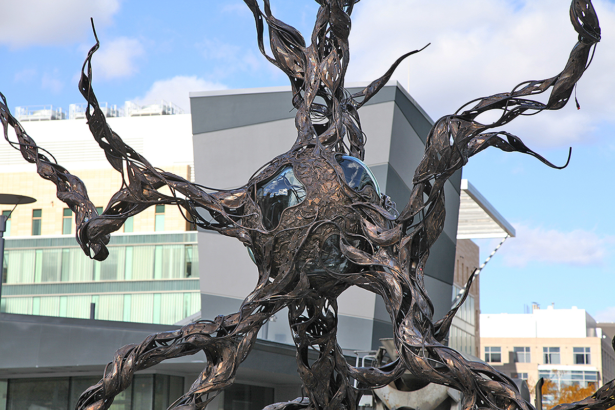 neuron sculpture kendall square