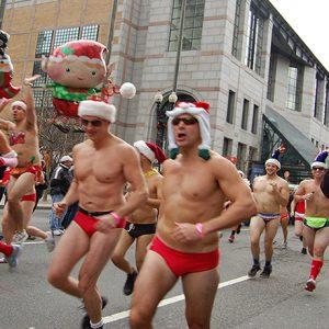 Santa Speedo Run