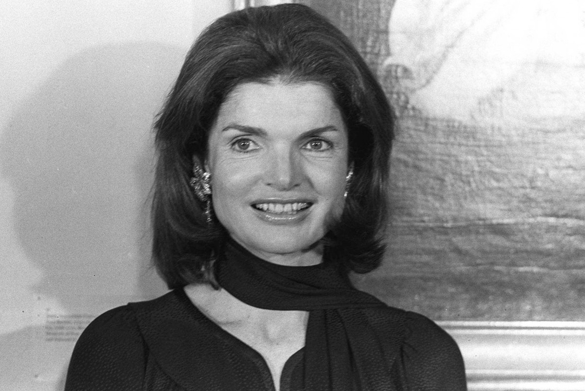 Jacqueline Onassis attends a reception given by the National Trust for Historic Preservation at the Boston Museum of Fine Arts on Oct. 9, 1975. Mrs. Onassis is honorary trustee of the organization for the preservation and continuing use of the Nation's Historic Architecture. (AP Photo/J.Walter Green)