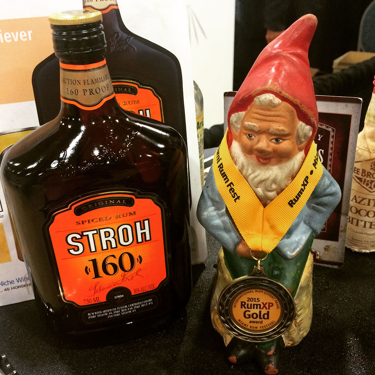 Stroh 160 with Klaus the Soused Gnome
