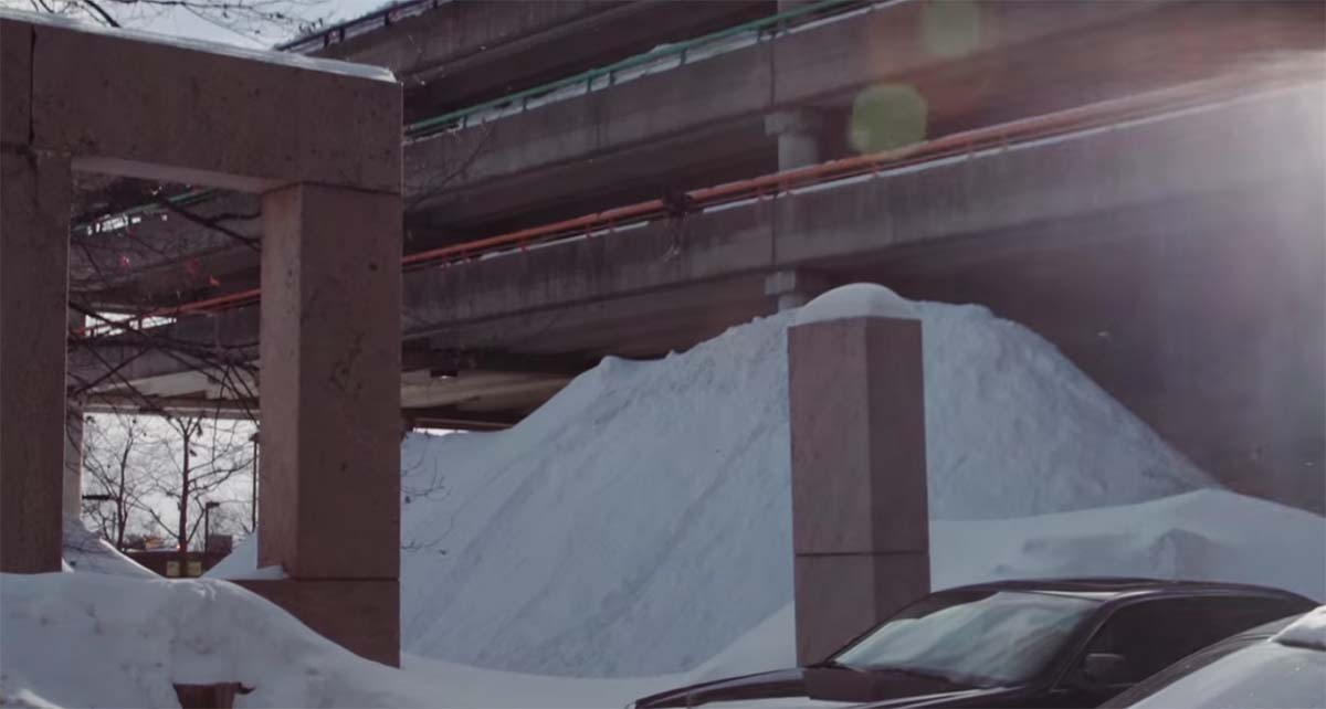 For Lack of Better skiers on Alewife Parking Garage. Via Teton Gravity Research
