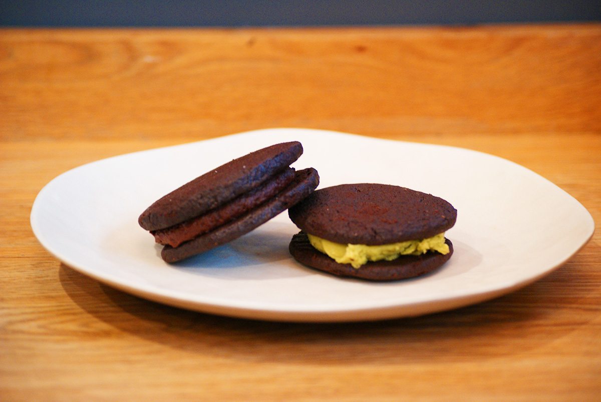 Homemade Dark Chocolate and Matcha Oreos from Flour Bakery / Photo by Kyle Grace Mills