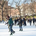 Ice skating on Boston Common Frog Pond
