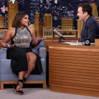 THE TONIGHT SHOW STARRING JIMMY FALLON -- Episode 0380 -- Pictured: (l-r) Actress Mindy Kaling during an interview with host Jimmy Fallon on December 3, 2015 -- (Photo by: Douglas Gorenstein/NBC)