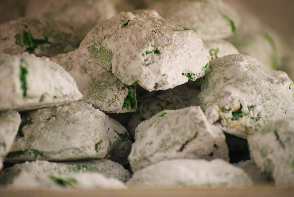 A Pile of Pistachio Macaroons from Bova Bakery / Photo by Kyle Grace Mills