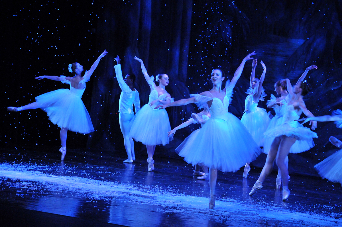The Jose Mateo Ballet Theatre's Nutcracker snow scene. / Photo provided by Jose Mateo Ballet Theatre
