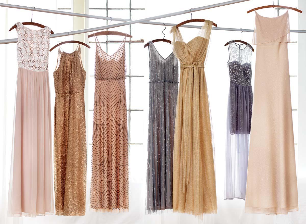 sparkly bridesmaids dresses