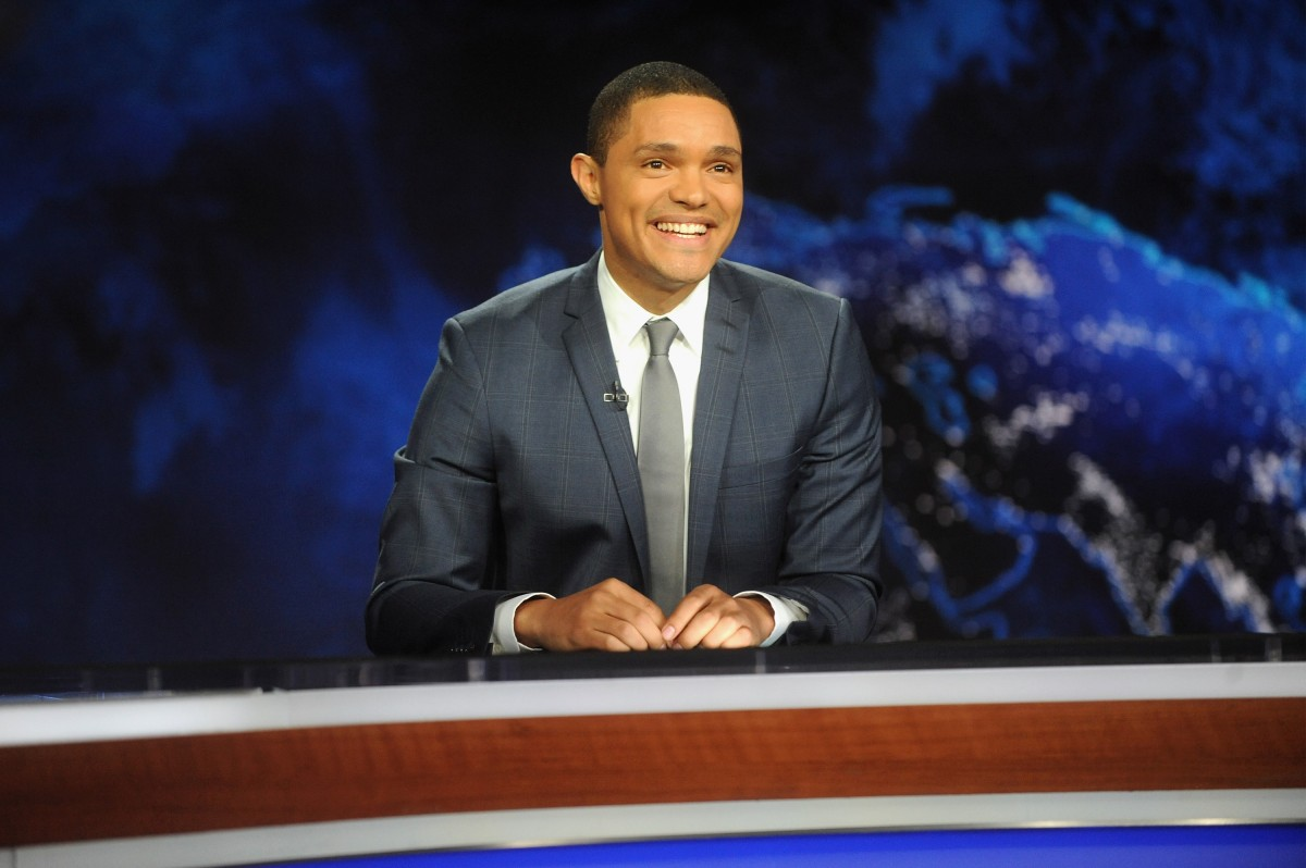 """NEW YORK, NY - SEPTEMBER 28: Trevor Noah hosts Comedy Central's """"The Daily Show with Trevor Noah"""" premiere on September 28, 2015 in New York City. (Photo by Brad Barket/Getty Images for Comedy Central)"""