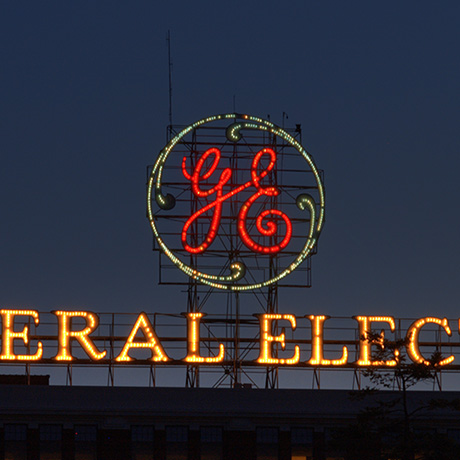 General Electric sign sq