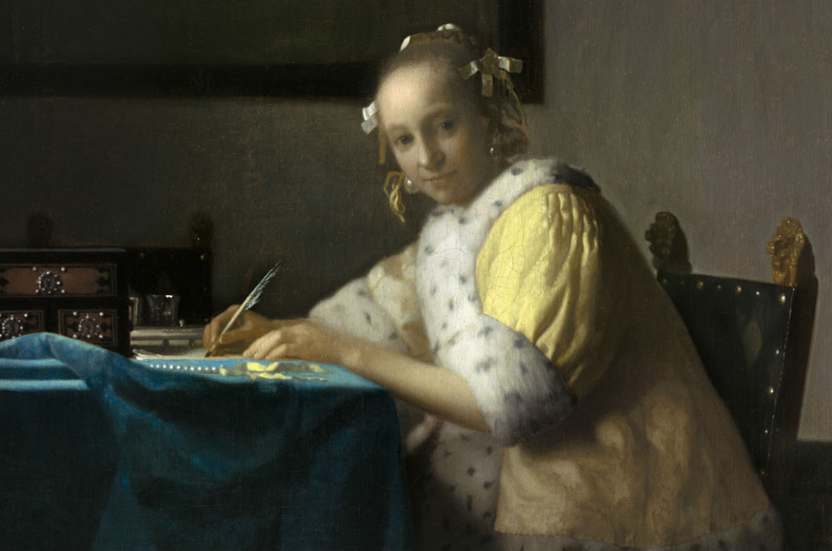 Johannes Vermeer, A Lady Writing