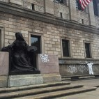 Boston Public Library vandalized sq
