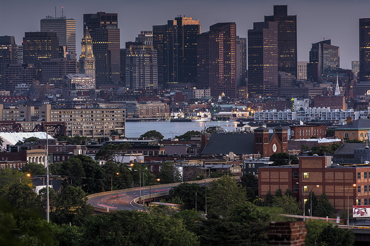 Boston Skyline from Malone Park by Bill Damon via Flickr/Creative Commons