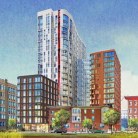 Northeastern Burke Street dorm sq