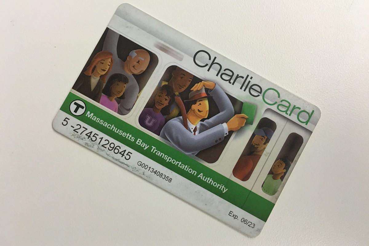 Charlie Card for the MBTA Photo by Garrett Quinn