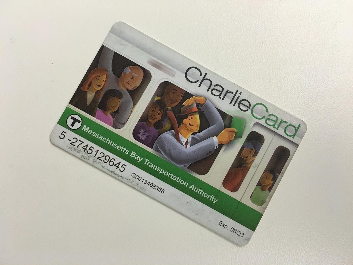 An MBTA Charlie Card