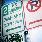 Two Hour Parking + No Parking by Steve Snodgrass via Flickr/Creative Commons