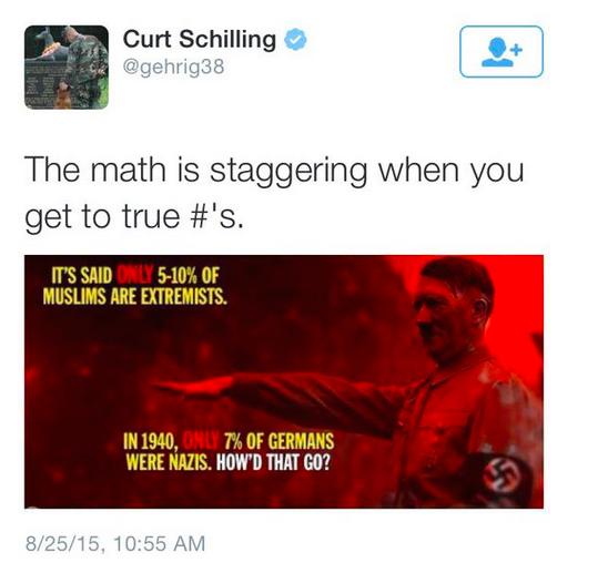 Curt Schilling Muslim Tweet