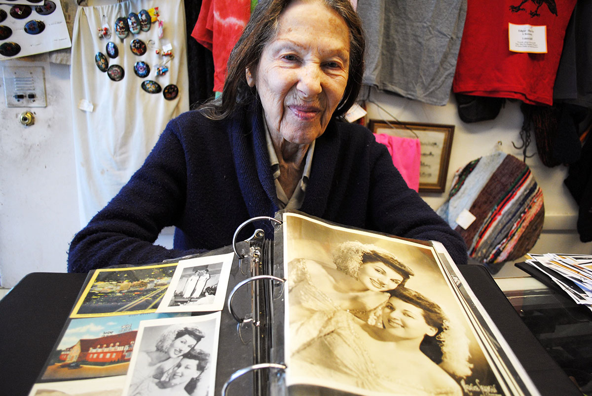 Pat Bartevian displays her photos of Old Hollywood. / Photo by Madeline Bilis