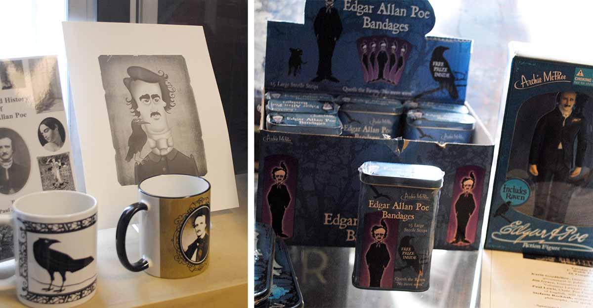 Poe souvenirs / Photo by Madeline Bilis
