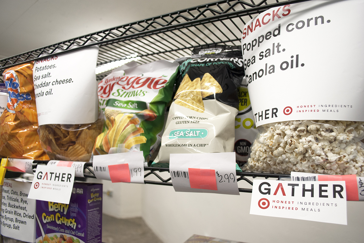 Gather emphasizes its straightforward packaging. / Photo by Madeline Bilis