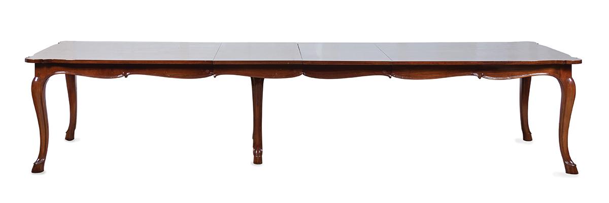 A Louis XV provincial-style mahogany banquet table
