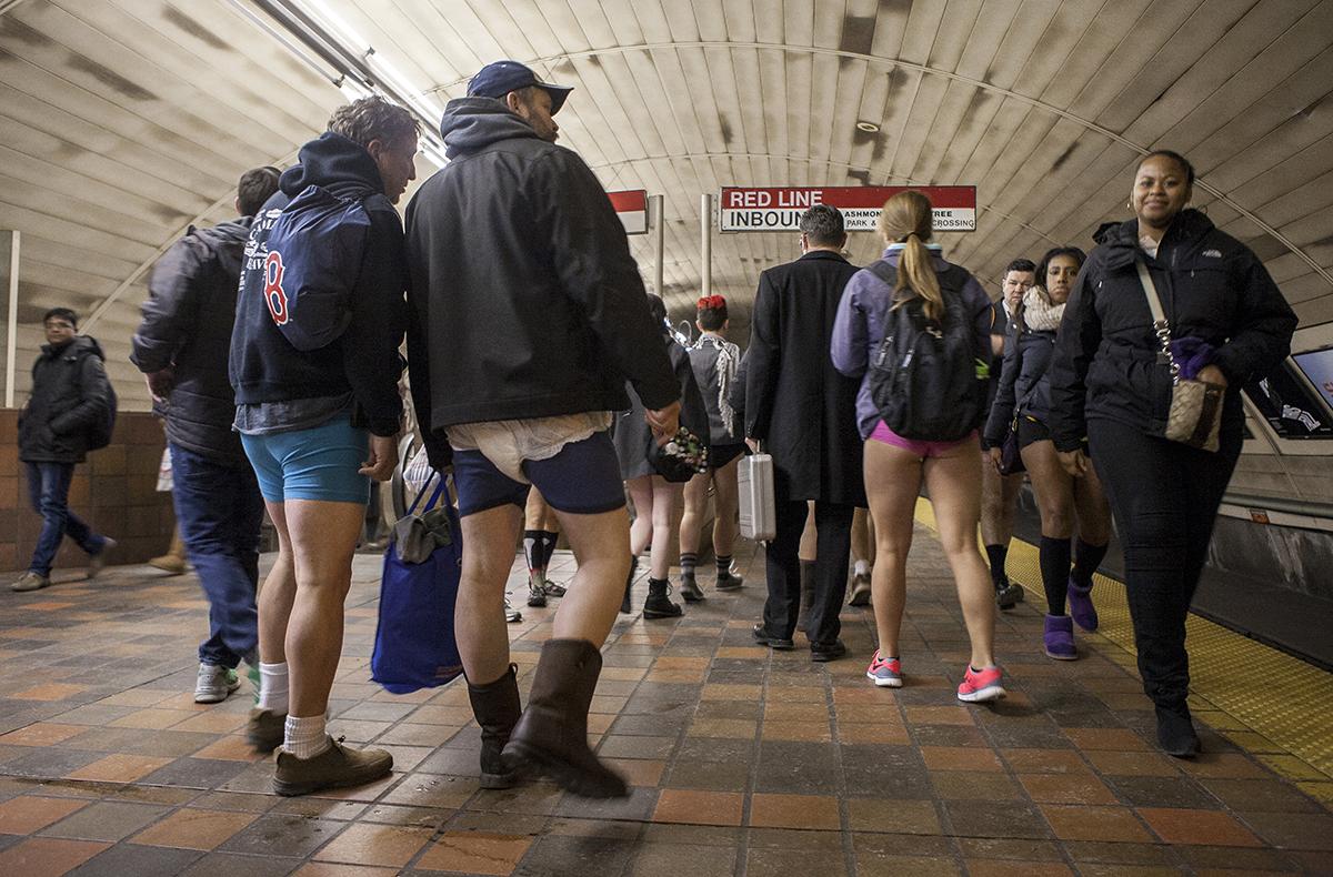 no pants subway ride boston 2016