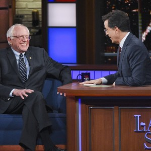 Senator  on The Late Show with Stephen Colbert, Wednesday February 10, 2016 on the CBS Television Network. Photo: Jeffrey R. Staab/CBS ©2016 CBS Broadcasting Inc. All Rights Reserved