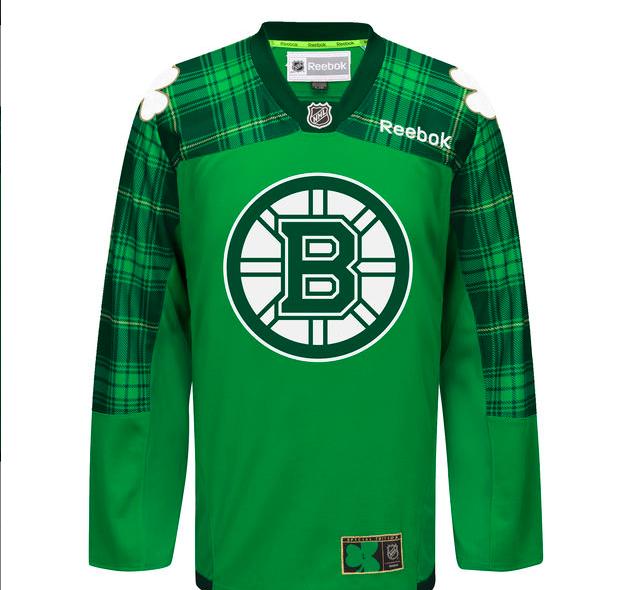 The Bruins' St. Patrick's Day Jerseys
