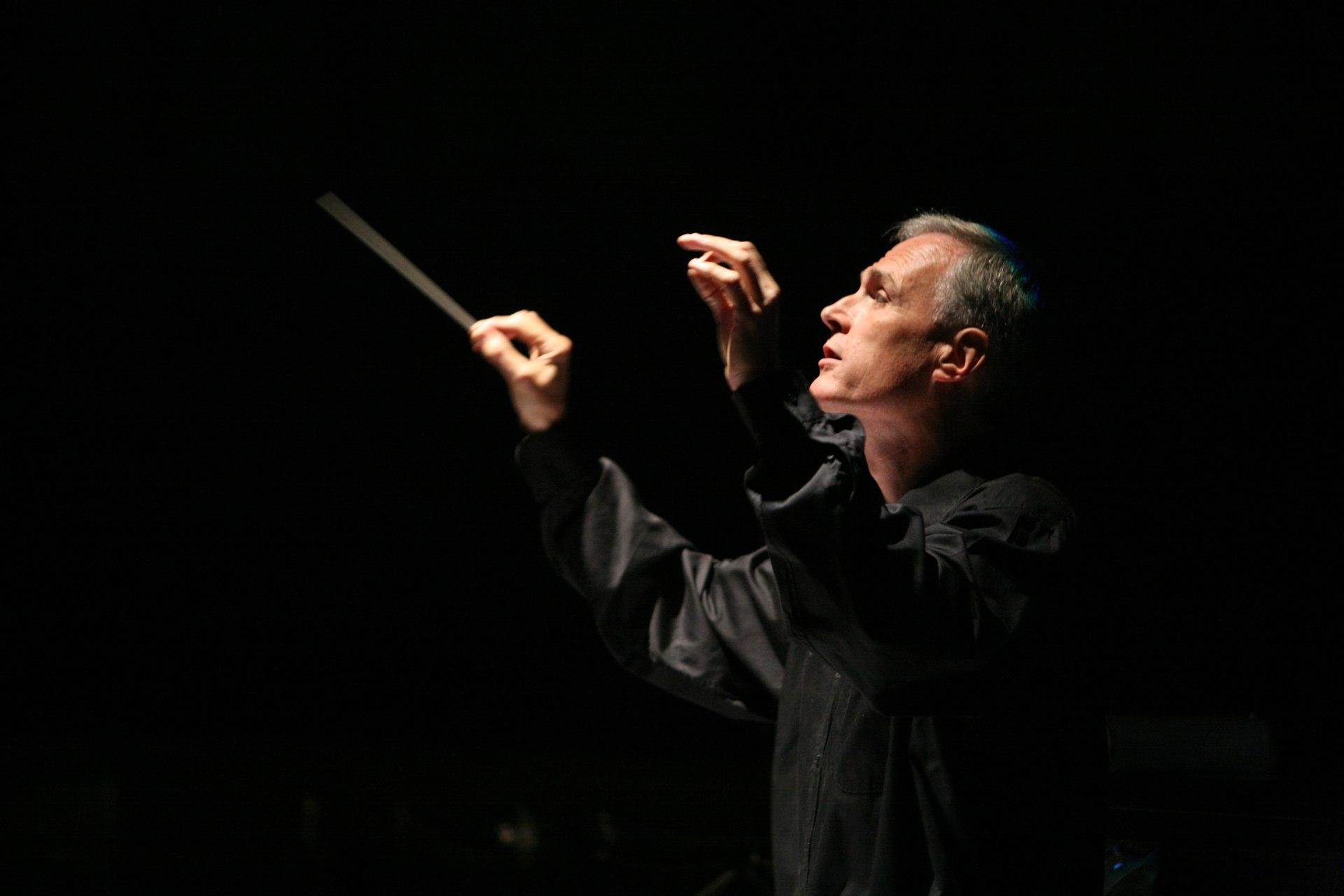 David Angus conducting