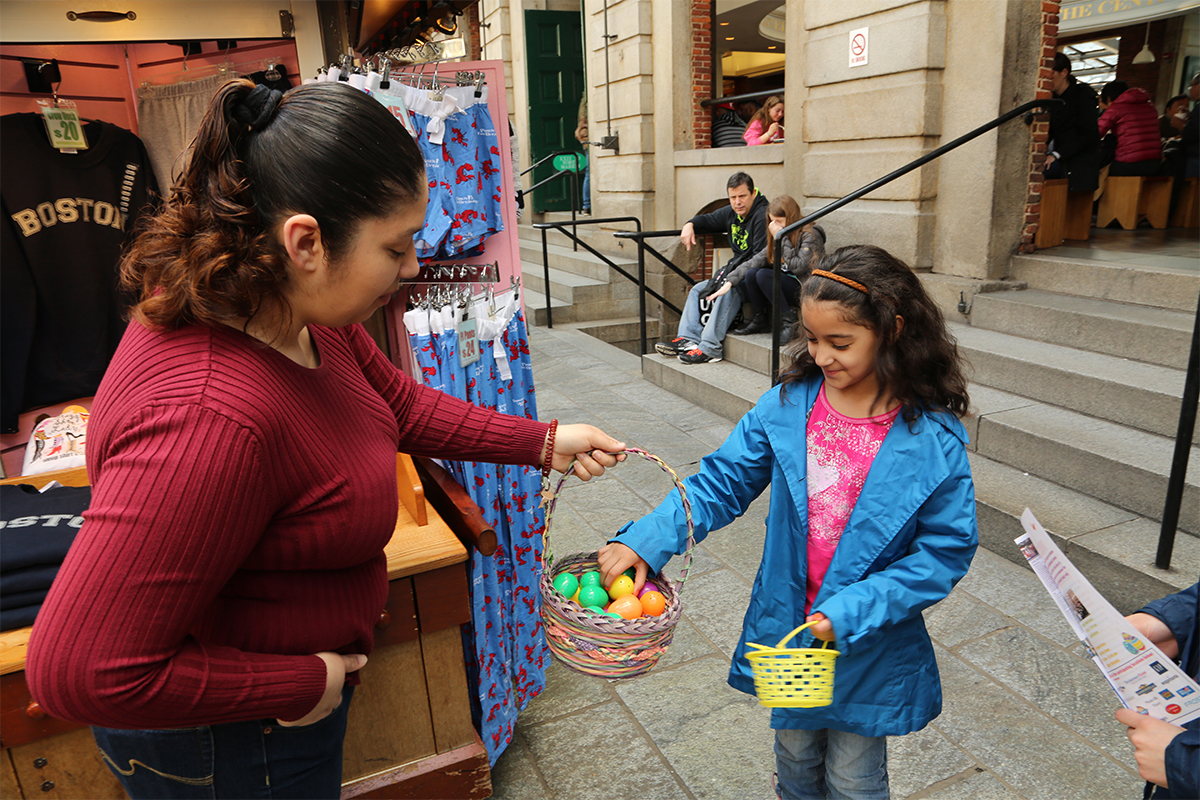 Easter egg hunt at Faneuil Hall / Image Provided