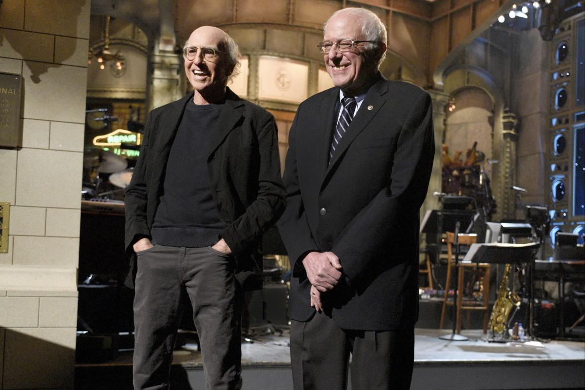 Larry David and Bernie Sanders on 'Saturday Night Live'