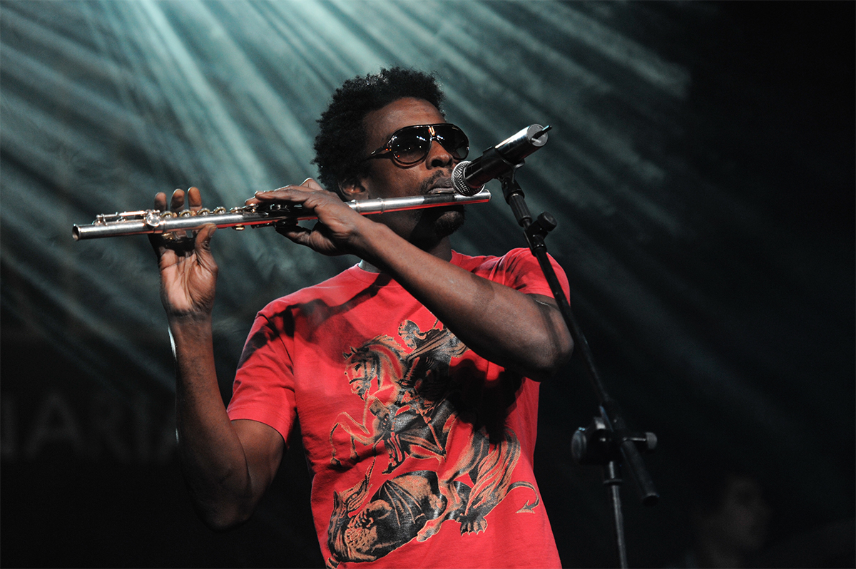 CANARY ISLANDS - NOVEMBER 12: Singer, songwriter and actor Seu Jorge from Brazil performs onstage during Womad in Las Palmas November 12, 2010 in Canary Islands, Spain Image via Shutterstock