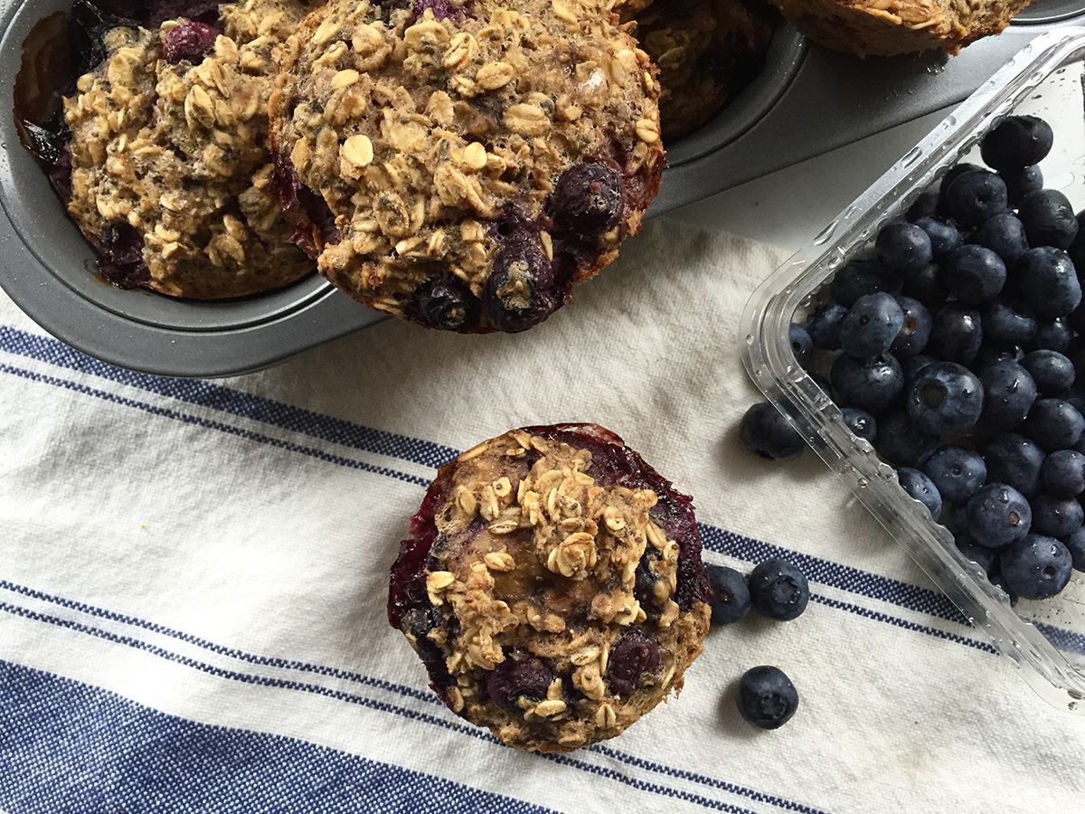 Baked oatmeal muffins photo by Emily McLaughlin