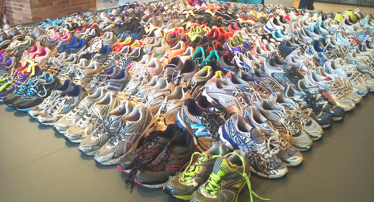 boston public library marathon shoes exhibit